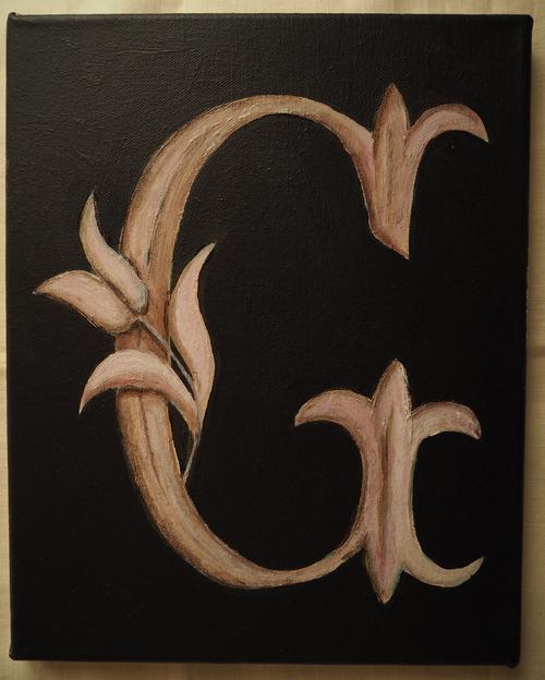Série des monogrammes G: Outre pictural psoriasis