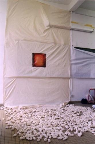 toile et tissus enroulés. 300cmx200cmx400cm