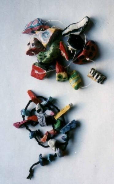 perles pâte à cuire, acrylique, fil