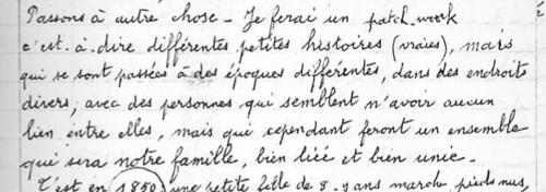 Le cahier de Jeanne