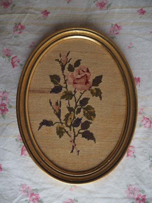 Rose au petit point